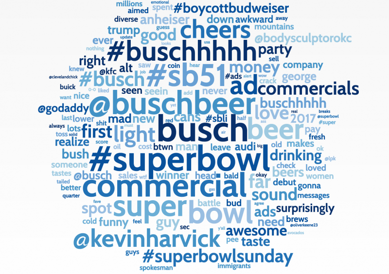 BUSCH BEER WORD CLOUD
